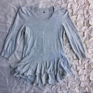 Anthropologie Knitted & Knotted ruffled sweater