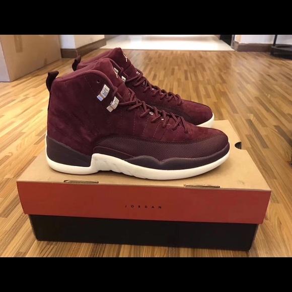 Jordan maroon 12's