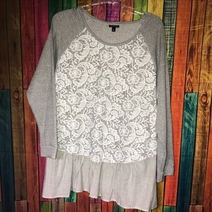 Lace Covered Sweatshirt Size XL