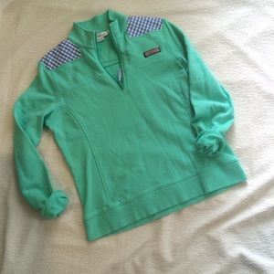 Vineyard Vines Mint Green/Blue Gingham shep Shirt