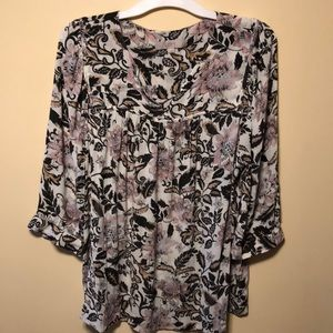 3/4 floral top from Loft