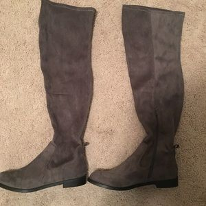 Kenneth Cole Grey Suede Over the Knee Boots 10M