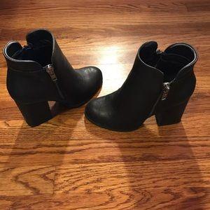 Zippered Block Heel Boots