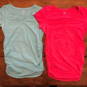 Set of 2 ruched t-shirts from Motherhood small