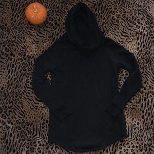 Black Mossimo Longline Sweater Hoodie Medium