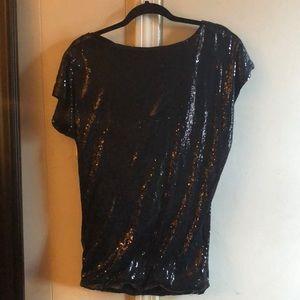Black Sequin T-Shirt Dress