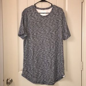 Mens on the byas longer length marled top L