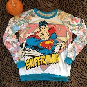 Women Superman Sweatshirt Medium
