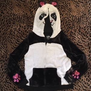 Justice for girls size 18 Panda Hoodie Jacket
