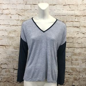 Madewell Knit Gray Blue Long Sleeve Shirt Small