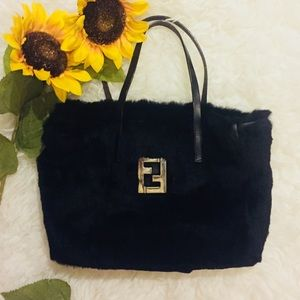 🖤Fur Authentic Fendi Small Tote