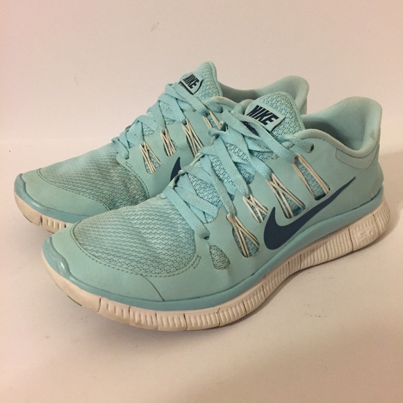 b68a1a7710646 Nike Free 5.0 light blue teal shoes women s 8. M 5a102f48f739bc03320146d6