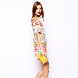 ASOS mirror floral dress