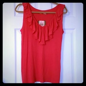 Juicy Couture Top ruffle v-neck large
