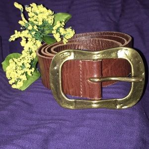 Ladies Brown Leather Belt Silence Noise