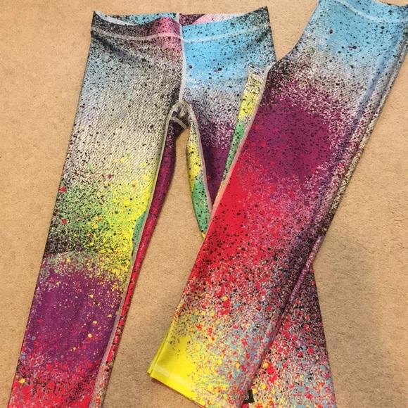 c385d8c04bbea Terez Pants | Colorful Spray Paint Capri Leggings | Poshmark