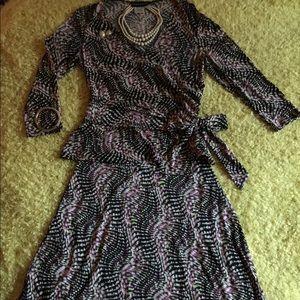 Lovely 2-piece Donna Morgan Wrap Top 👗 Dress Set