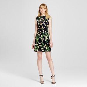 NWT Victoria Beckham for target black floral dress