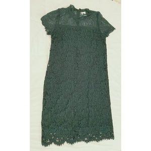 Mamalicious Maternity Lace Dress - Green, M