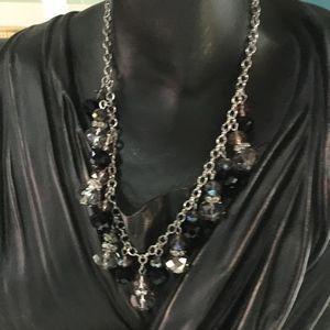 Silver/Black Crystal Necklace