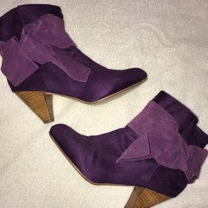 H&M purple booties