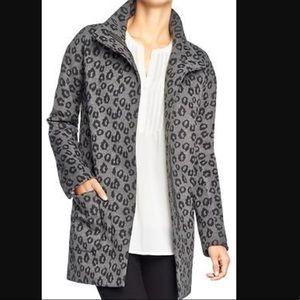 Old navy grey and black cheetah print coat jacket