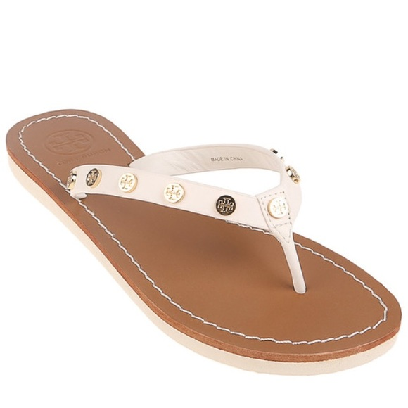 1a1dd20b1802 NIB Tory Burch Ricki Leather Studded Flip Flop