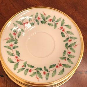 Lenox coffee cup plates