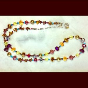 Erica Lyons Colorful Beaded Statement Necklace
