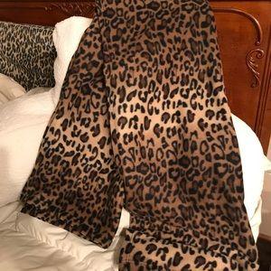 Cheetah print micro fleece blanket