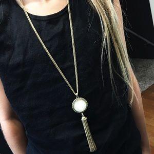Lucky Brand Long Tassel Necklace