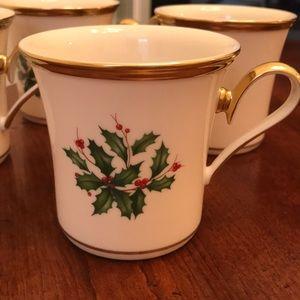 Lenox Holiday coffee cups.