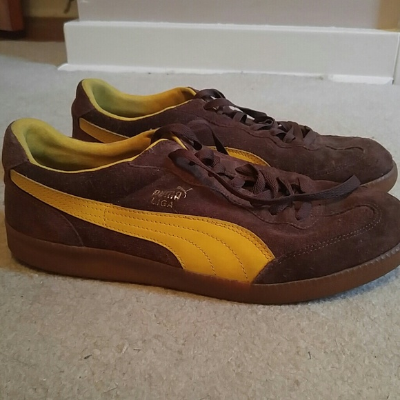 detailed look de3a7 2e15e Size 12 Puma Liga Brown Suede Sneakers Mens shoes