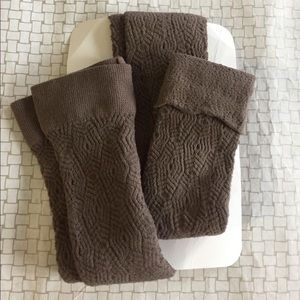 Soft knit footless tights