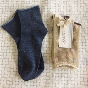 2 pairs of sparkly socks