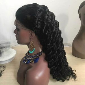 100%human hair wig Lace Front 22inch