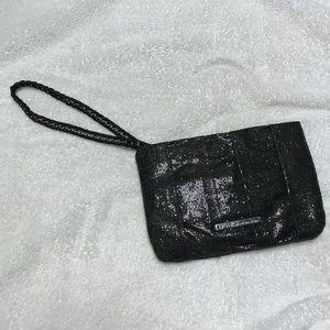 BCBGeneration black glitter wristlet