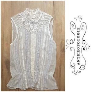 TINY for Anthropologie victorian style sheer top