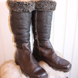 L.L. Bean Leather Boots with Shearling liner