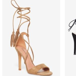BCBG Maxaria Faux Suede Lace up heel