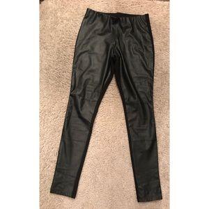 Pleather leggings size small—- fits like a medium!