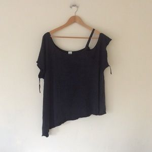 Free People Black Tee - S - Used