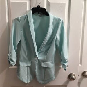 Mint colored blazer