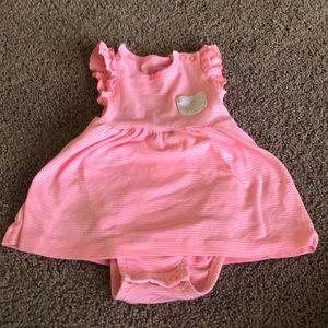 Stripped pink dress
