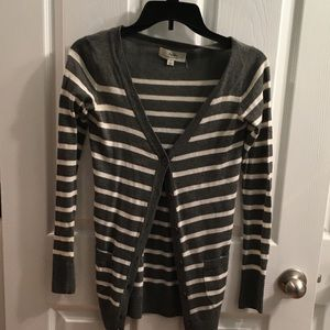 Papaya striped sweater