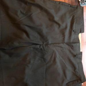 Haggar men's 44x32 chocolate brown dress