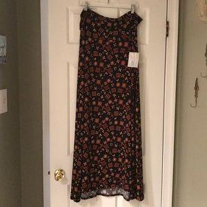 NWT LuLaRoe maxi skirt/dress in black