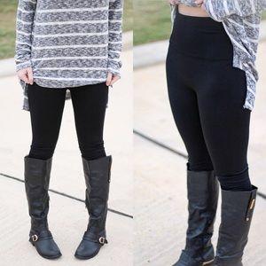 Pants - High waist fleece lined leggings