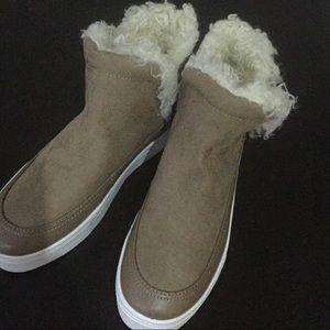 H&M Faux Suede faux fur lined sneakers