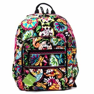 Vera Bradley Campus Backpack Midnight with Mickey